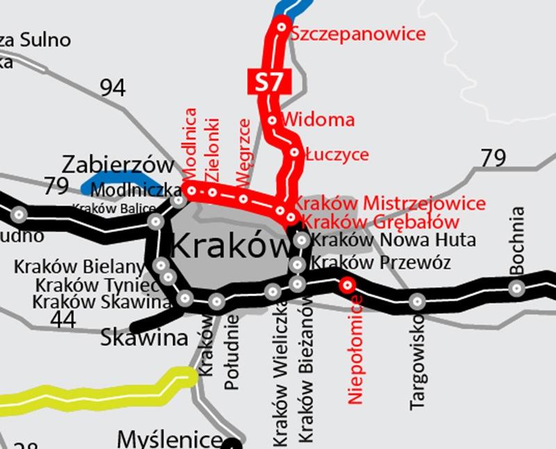ſatwiej będzie ominąć Kraków